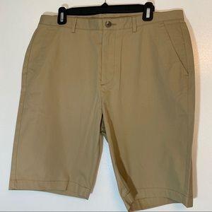 NWOT | Calvin Klein | Tan Flat Front Shorts | 34